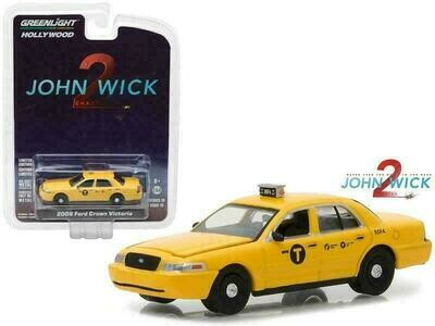 John Wick Chapter 2 Ford Crown Victoria New York City Taxi (2008, 1/64 scale)