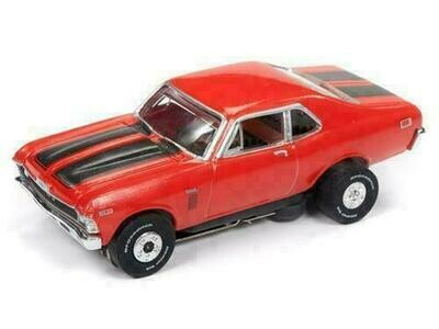 Auto World Thunderjet R23 1969 Chevrolet Nova Orange HO Scale Slot Car