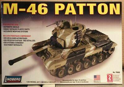 Lindberg M-46 Patton tank 1/35 Scale Model Kit