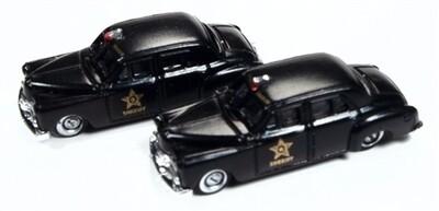 Classic Metal Works 1950 Dodge County Sheriff Car (2-Pack) 1:160 N Scale