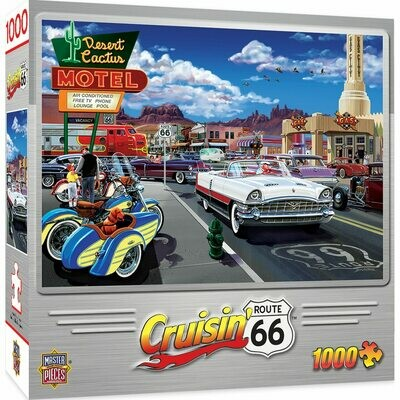 CRUISIN' ROUTE 66 - DRIVE THROUGH ON RT. 66 1000 PIECE JIGSAW PUZZLE