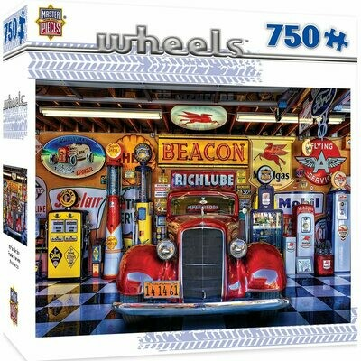 WHEELS AT YOUR SERVICE  - 750 PIECE JIGSAW PUZZLE BY LINDA BERMAN