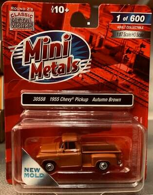 Classic Metal Works 1955 Chevrolet Pickup Truck Brown 1:87 HO Scale