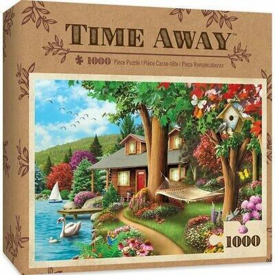 TIME AWAY AROUND THE LAKE - 1000 PIECE JIGSAW PUZZLE BY ALAN GIANA