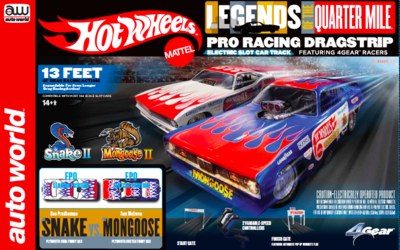 Auto World Hot Wheels Legends of the Qtr., Mile Snake II vs Mongoose II 13' Dragstrip