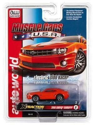 Auto World Xtraction R30 2010 Chevrolet Camaro SS (Orange) HO Scale Slot Car