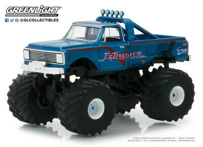 Greenlight - Kings of Crunch Series 2 - 1-64 Kings of Crunch 2 - 1972 Chevy K-10 - ExTerminator