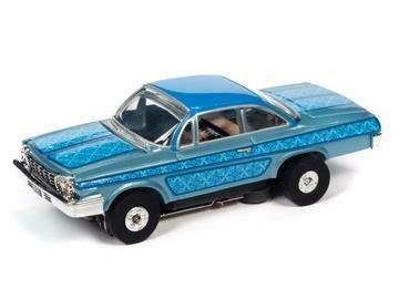 AW Thunderjet R31 1962 Chevrolet Bel Air Slot Car - Blue