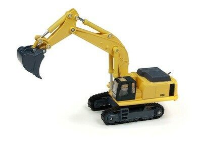 Classic Metal Works Traxside Hydraulic Excavator (Yellow) 1:87 HO Scale