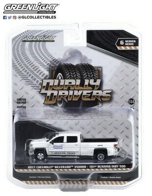 Greenlight - 2017 Chevrolet Silverado 3500 Dually - 101 Indy 500 Official Truck
