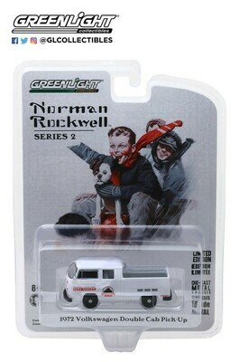 Greenlight - Norman Rockwell S2 - 1/64 Scale diecast car - 1972 VW Type 2 Double Cab Pickup
