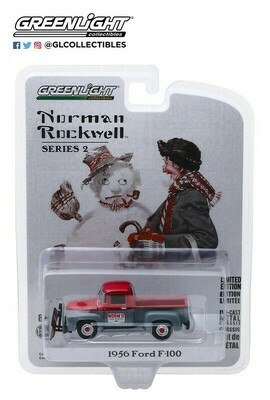 Greenlight - Norman Rockwell S2 - 1/64 Scale diecast car - 1956 Ford F-100
