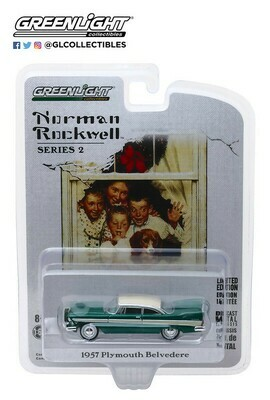 Greenlight - Norman Rockwell S2 - 1/64 Scale diecast car - 1957 Plymouth Belvedere