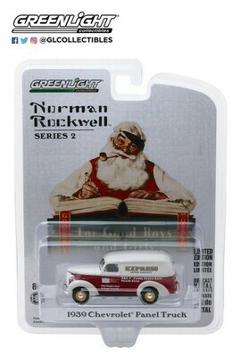 Greenlight - Norman Rockwell S2 - 1/64 Scale diecast car - 1939 Chevy Panel Truck