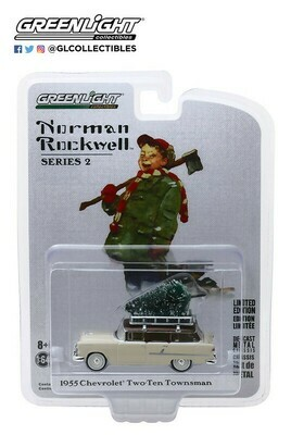 Greenlight - Norman Rockwell S2 - 1/64 Scale diecast car - 1955 Chevy Two-Ten Townsman