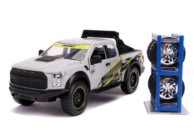 2017 Ford F-150 Raptor Pickup Truck with Extra Wheels. 1:24 scale diecast collectible model truck