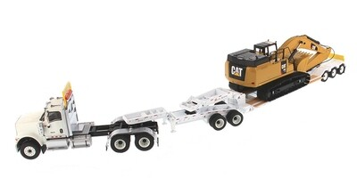 International HX520 Tandem Day Cab Tractor in White with XL 120 HDG Lowboy
