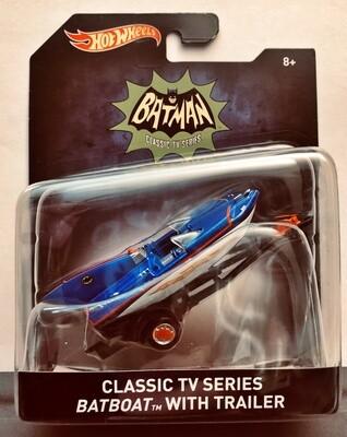 Mattel Hot Wheels - Batman Premium 1:50 scale diecast model. TV Series Batman - Batboat w/Trailer