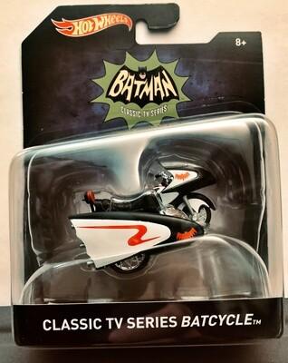 Mattel Hot Wheels - Batman Premium 1:50 scale diecast model. TV Series Batman - Batcycle