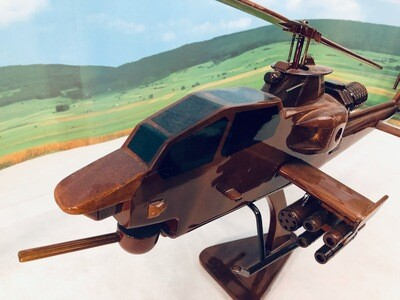AH-64 Apache Helicopter Model Desk top
