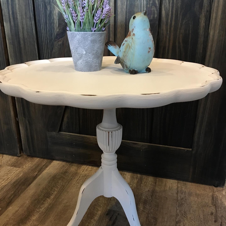 Scalloped Edge Side Table