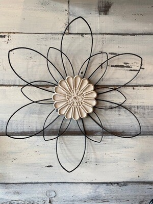 Wire Flower Indoor Decor - Large