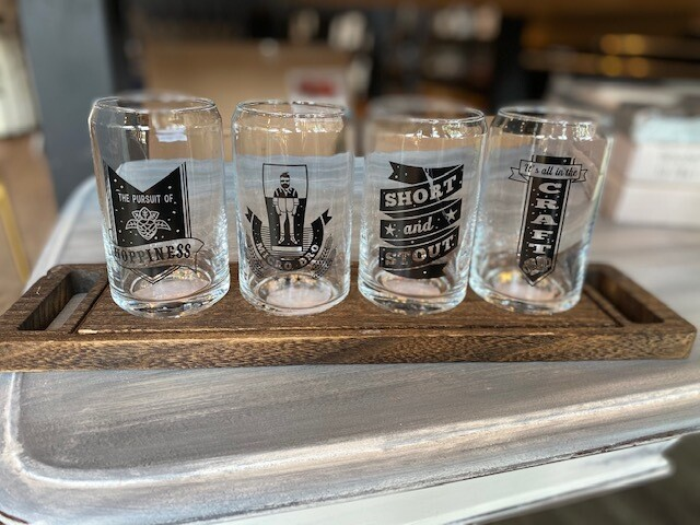 Beer Flight Set with Tray