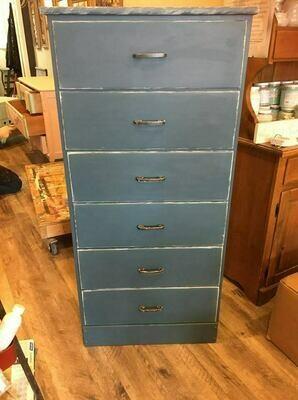 Blue Tall Dresser