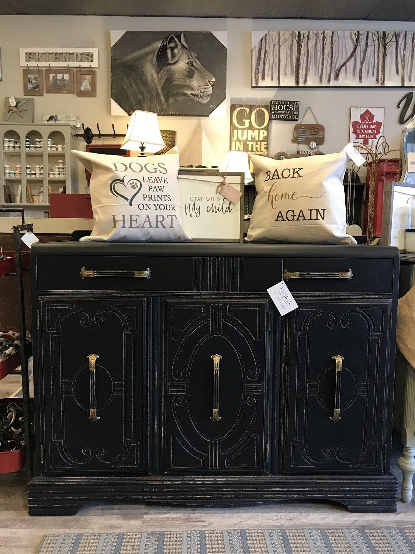 Black Vintage Sideboard -SOLD