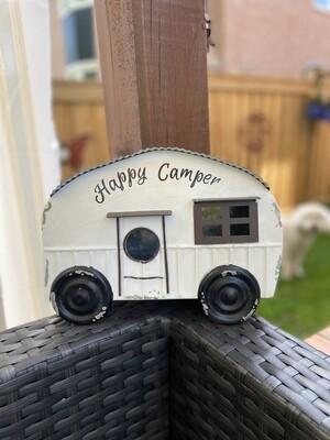 Metal Camper birdhouse