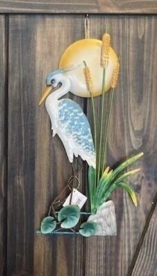 Egret Metal Garden Art- Standing
