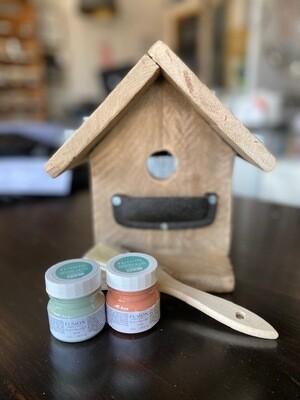 Repurposed Wood Birdhouse