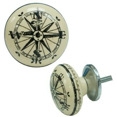 Knob - Compass Ball Ceramic