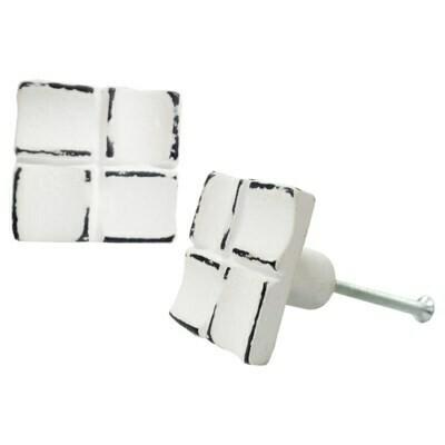 Knob - Multi Square Distressed