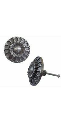Knob - Cast Iron Flower