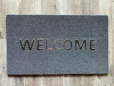 Door Mat - Welcome (Dark Grey)