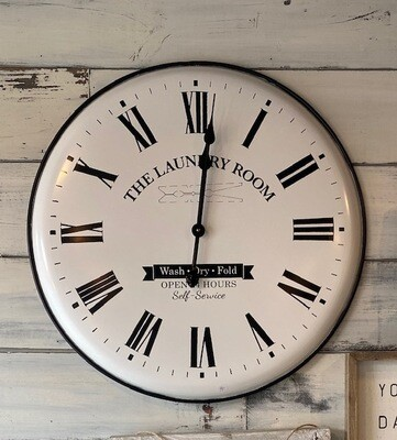 Laundy Room Metal Clock