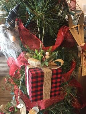 Ornament - Buffalo Check Present