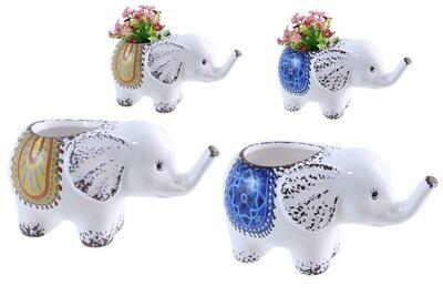 Ceramic Elephant Planters