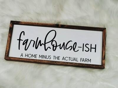 farmhouse-ish sign