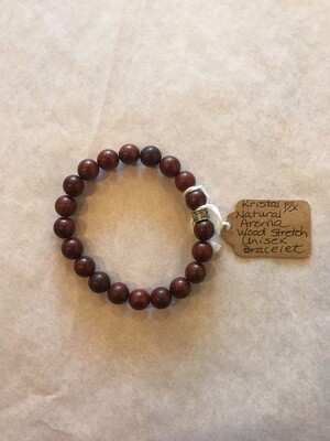 Natural Aroma Wood Stretch Unisex Bracelet (Darker)