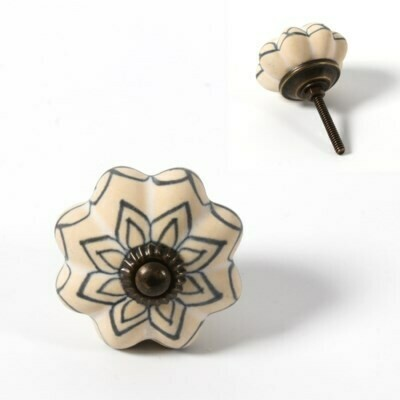 Knob - Flower Ceramic