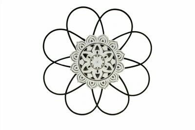 Metal Flower Design Wall Art