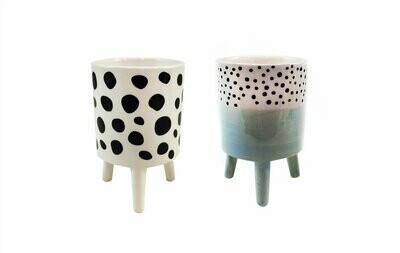 Ceramic Planters- Polka Dots
