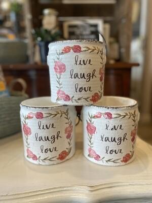 Live Laugh Love Cement Pail/Pot