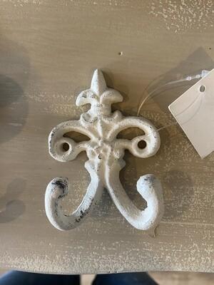 Hook - Cast Iron Double White