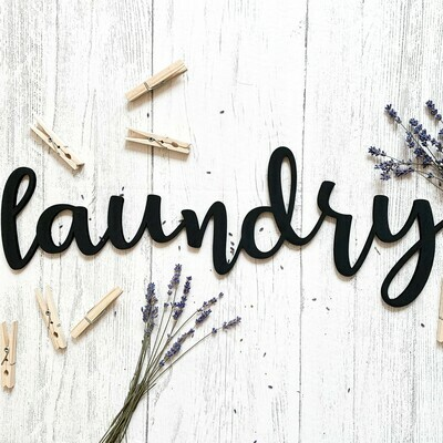 Laundry Word Cut Out Sign
