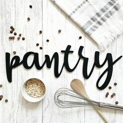 Pantry Word Cut Out Sign