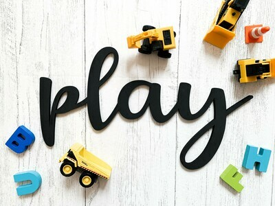 Play Word Cut Out Sign