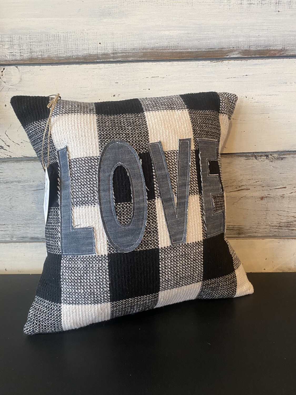 Love Plaid Pillow